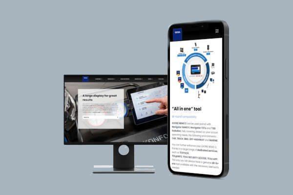 Check-up Media TEXA international website